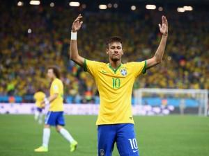 Postal: El brasileño Neymar en el primer partido del Mundial 2014