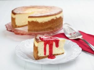 Una deliciosa tarta de queso casera