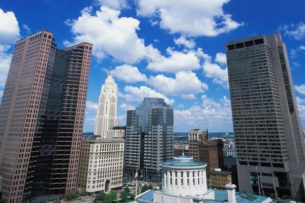 Cielo y edificios de una ciudad norteamericana