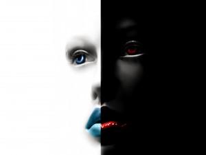 El contraste de una cara