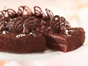 Postal: Pastel de varios chocolates
