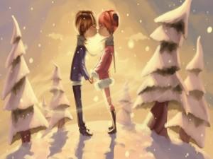 Postal: Romance bajo la nieve