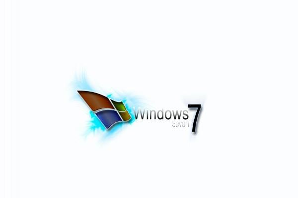 Windows Seven en fondo blanco