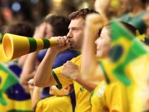 Postal: Afición de Brasil