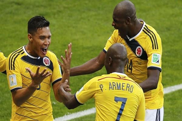 Felicidad en la Selección de Colombia tras derrotar a Grecia (Mundial 2014)