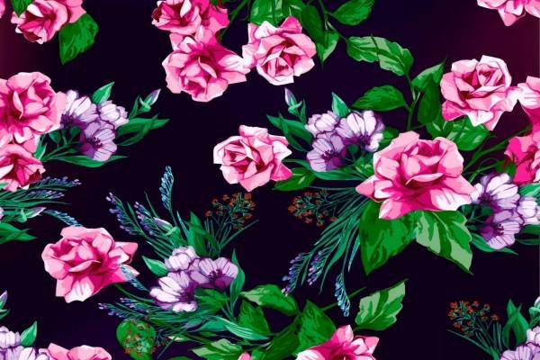 Dibujo con flores de varios colores