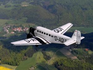 Postal: Avión alemán Junkers Ju-52