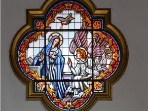 Postal: Vitral Nuestra Señora de la Candelaria (Tenerife, Islas Canarias)