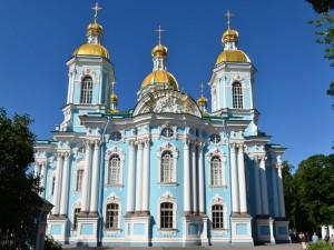 Postal: Catedral de San Nicolás de los Marinos (San Petersburgo)