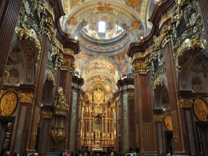 Postal: Interior de la Abadía de Melk, Austria