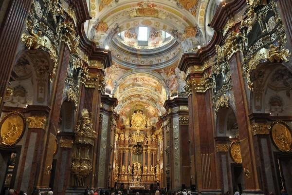 Interior de la Abadía de Melk, Austria