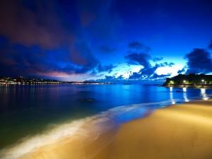 Luces en la playa