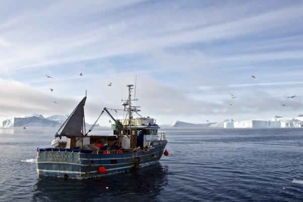El barco Ane-Anna Ilulissat, en las aguas de Groenlandia