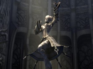 "Elfa con los ojos tapados ""Lineage 2: The Chaotic Throne"""