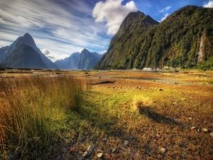 Paisaje natural en las grandes montañas