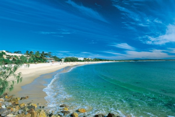 Espectacular playa con aguas turquesas