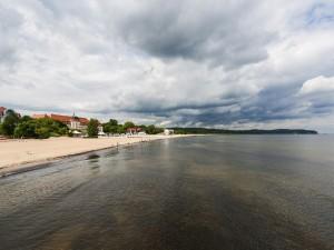 Postal: Gran Hotel en la playa de Sopot (Polonia)