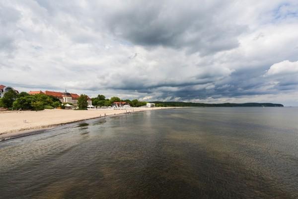 Gran Hotel en la playa de Sopot (Polonia)