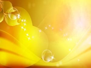 Fondo amarillo con destellos de luz
