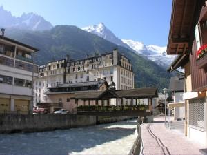 Postal: Río Arve en Chamonix, Francia