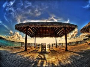 Lugar para contemplar el mar y el atardecer