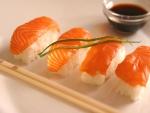 Nigiri shusi de salmón
