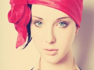 Chica con unos bonitos ojos azules
