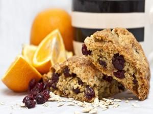 Cookies de avena, arándanos y naranja