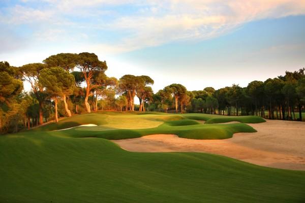 Un campo de golf