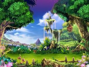Isla en un paraje de fantasía