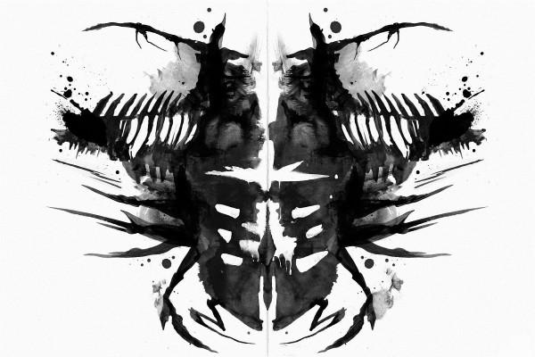 """Dibujo en blanco y negro del videojuego """"Dead Space"""""""