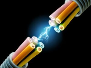 Cables con descarga eléctrica