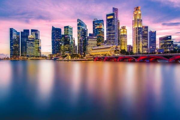 Atardecer en Singapur