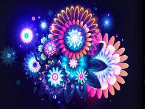 Postal: Composición floral