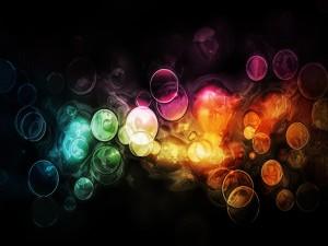 Círculos sobre zonas de diferente color