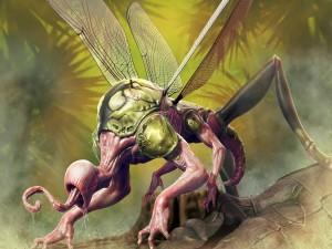 Postal: Un gran insecto mutante