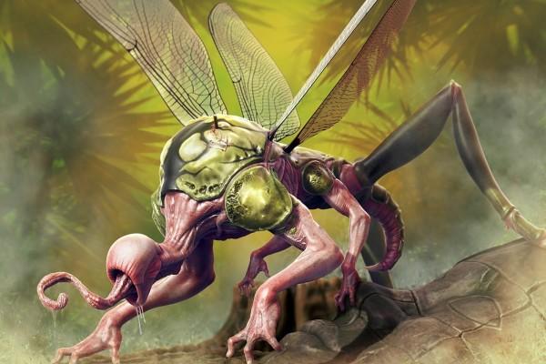 Un gran insecto mutante