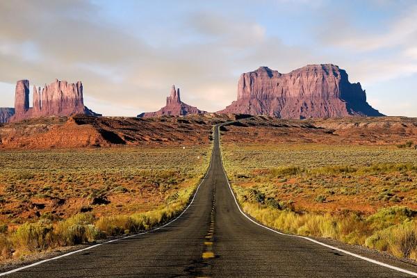 Carretera hacía el Monument Valley