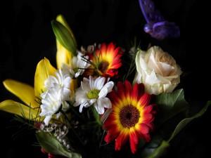 Postal: Bonitas flores variadas