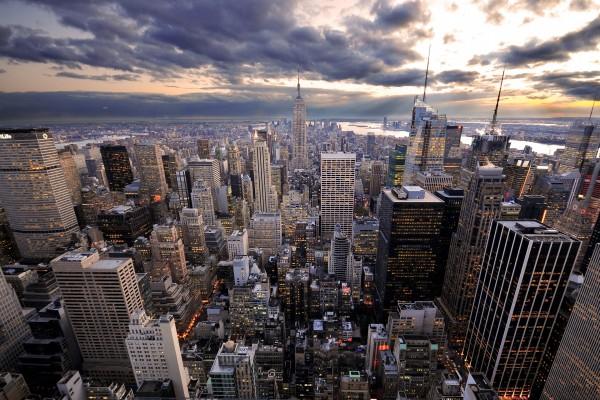 Ciudad repleta de grandes edificios
