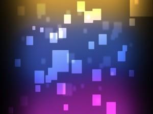 Cuadrados de varios tamaños y colores