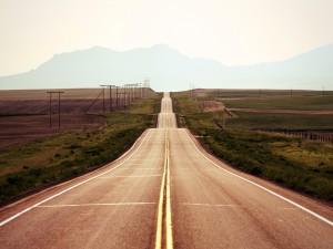 Postal: Cuestas en la carretera