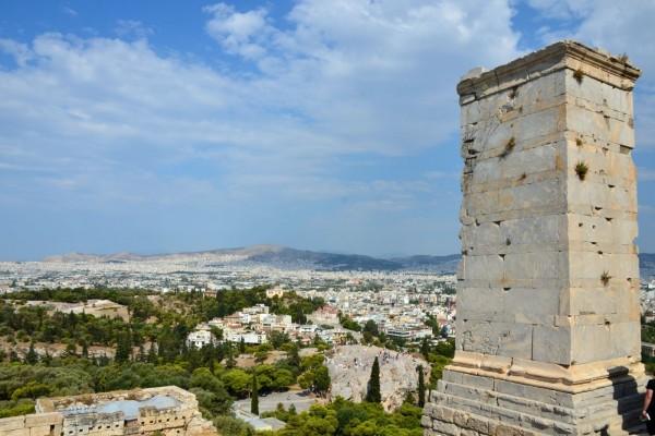 Vista parcial de Atenas, Grecia