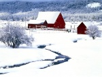 Riachuelo en la nieve