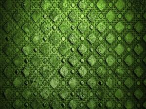 Un fondo de color verde con formas cuadradas