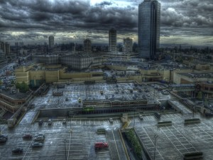Día gris en la ciudad