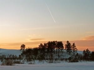 Nieve en el campo