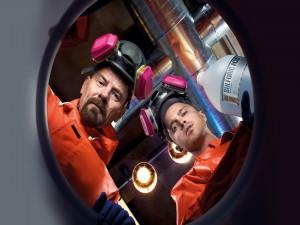 """Walter y Jesse antes de cocinar """"Breaking Bad"""""""