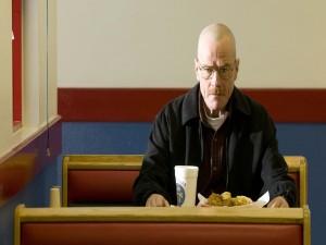 """Walter comiendo en """"Los Pollos Hermanos"""""""