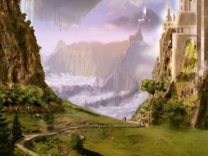 Camino hacia un reino de fantasía